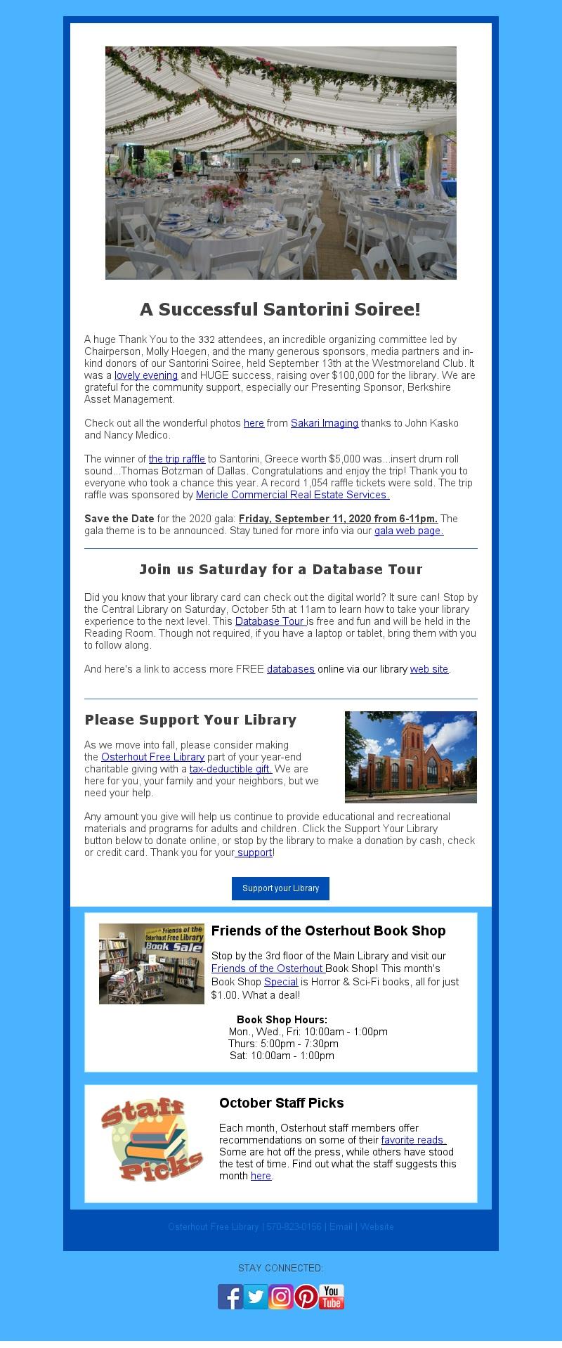 Mobile Friendly Newsletter – October 2019