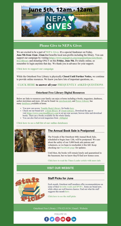 Mobile Friendly Newsletter – June 2020