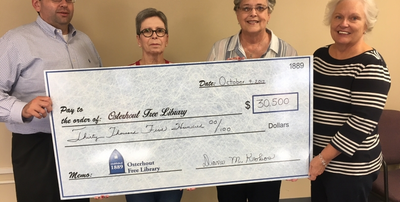 Friends of the Osterhout Library donate $30,500