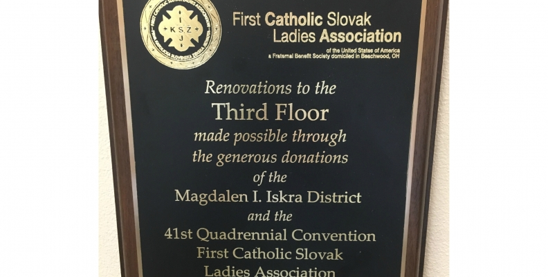 Magdalen I. Iskra District of the First Catholic Slovak Ladies Association Donates to the Osterhout Free Library