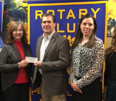Rotary Club of Wilkes-Barre & Wilkes University  partner to donate $4,000 to Osterhout Free Library