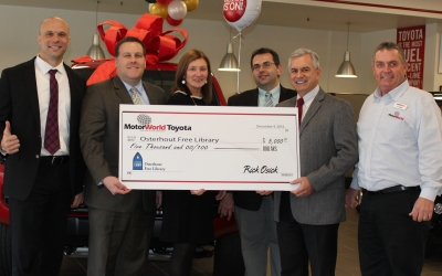 MotorWorld Toyota Donates to the Osterhout Free Library